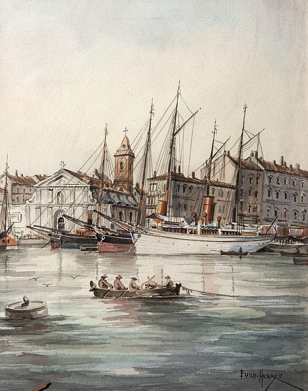 Émile HENRY (1842-1920)Le vieux port de