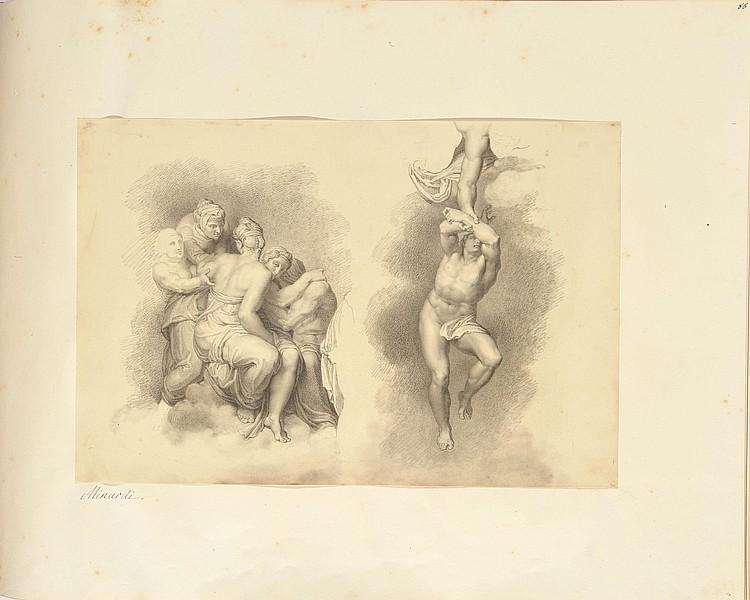 Tommaso MINARDI(Faenza 1787 - Rome 1871)Etude de