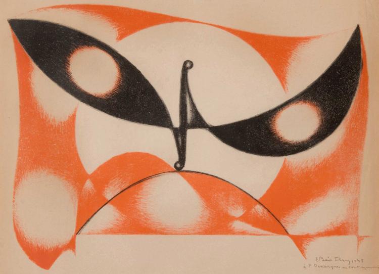 ETIENNE BEOTHY (HUN/1897-1961)  Sans titre, 1948