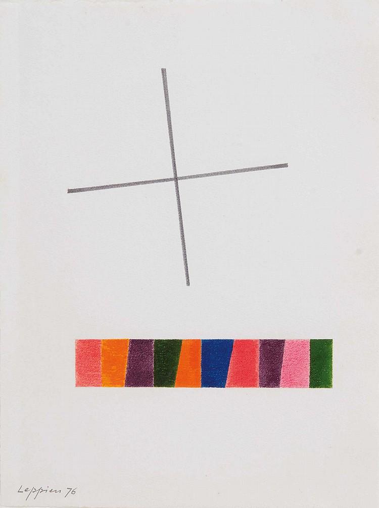 JEAN LEPPIEN (GER/1910-1991)  Sans titre, 1976