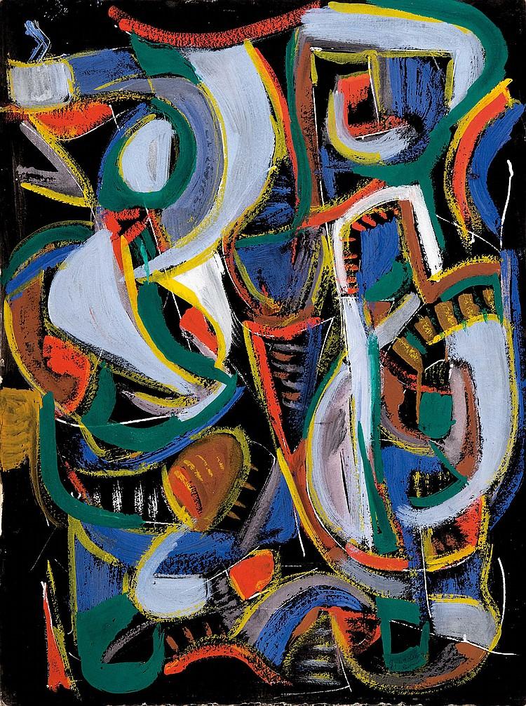 ANDRé LANSKOY (RUS/1902-1976)  Composition, 1971