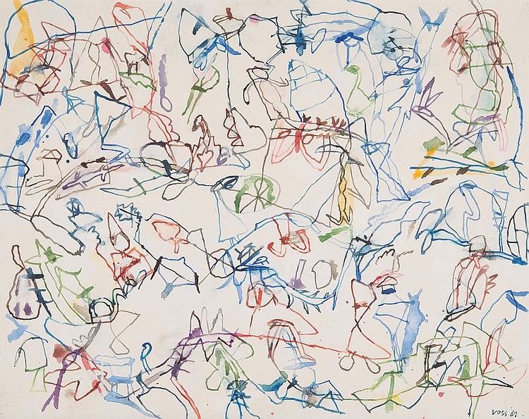JAN VOSS (GER/1936)  Sans titre, 1981