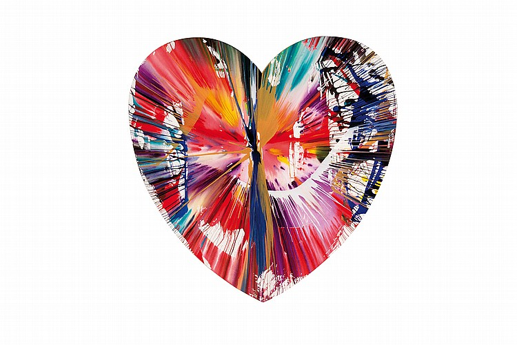 DAMIEN HIRST (GRB/1965) Heart Spin Painting, 2009