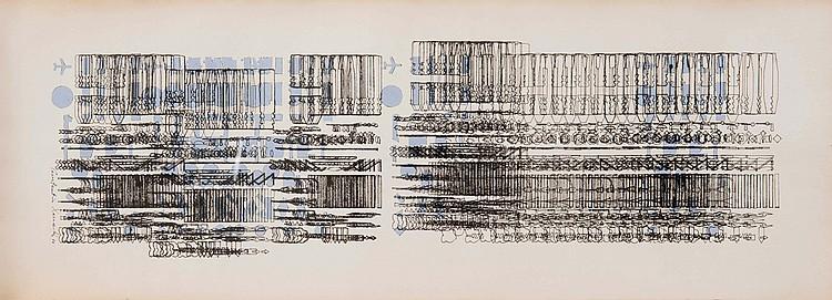 CONSTANTIN XENAKIS (FRA/1931) Composition abstraite, 1986