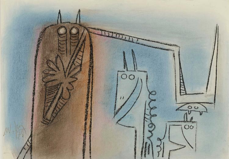 WIFREDO LAM (CUB/1902-1982)  Sans titre, 1978