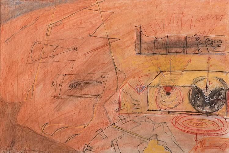DANIEL DEZEUZE (FRA/1942) Sans titre, série des « Forts et Armes », 1989