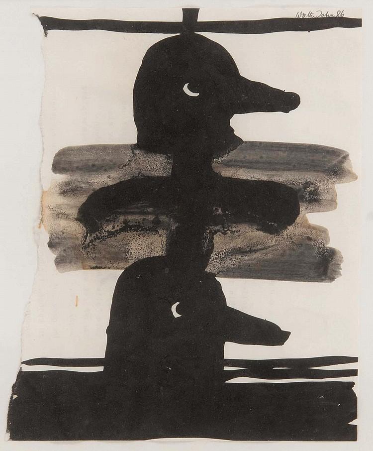 WALTER DAHN (GER/1954)  Sans titre, 1986