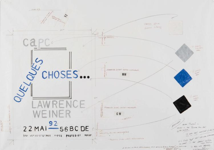LAWRENCE WEINER (USA/1942)  Projet d'affiche, 1992