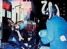 JEAN-PIERRE KHAZEM (FRA/1968)  Clochard, série « Glass Head », 1998