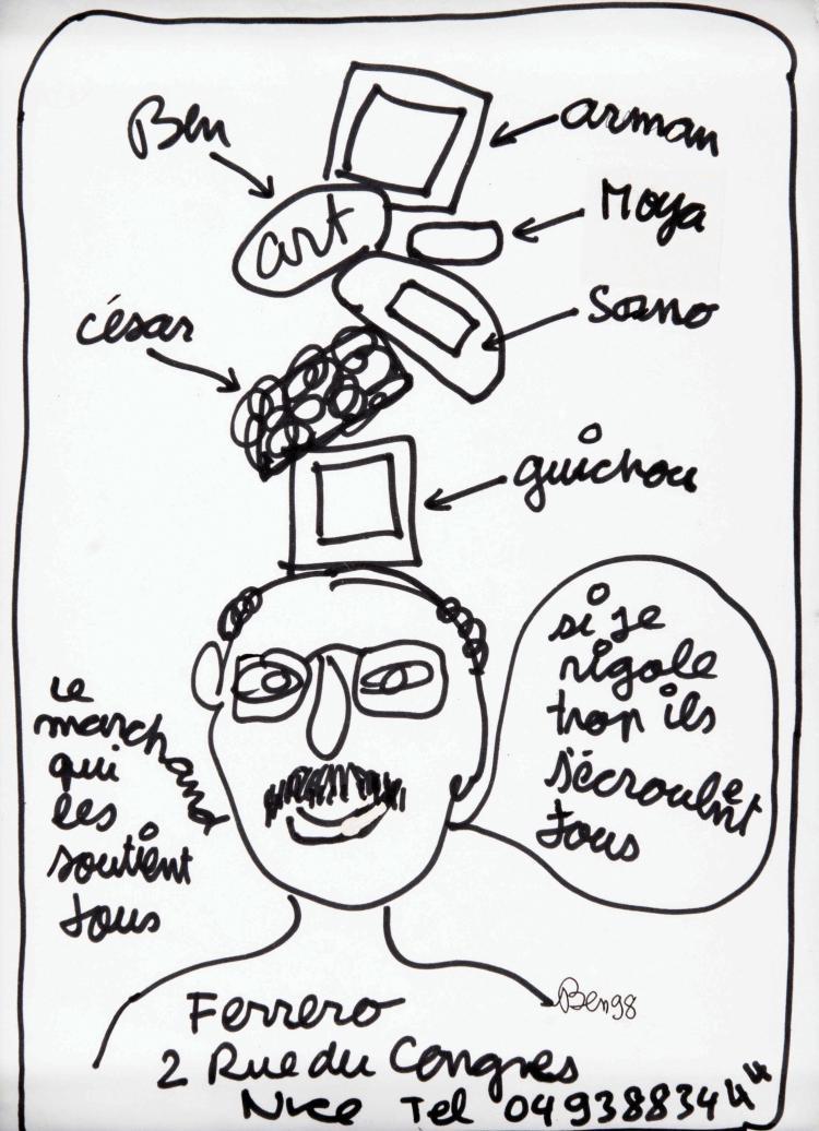 BEN (FRA/1935) Portrait de Jean Ferrero, 1998