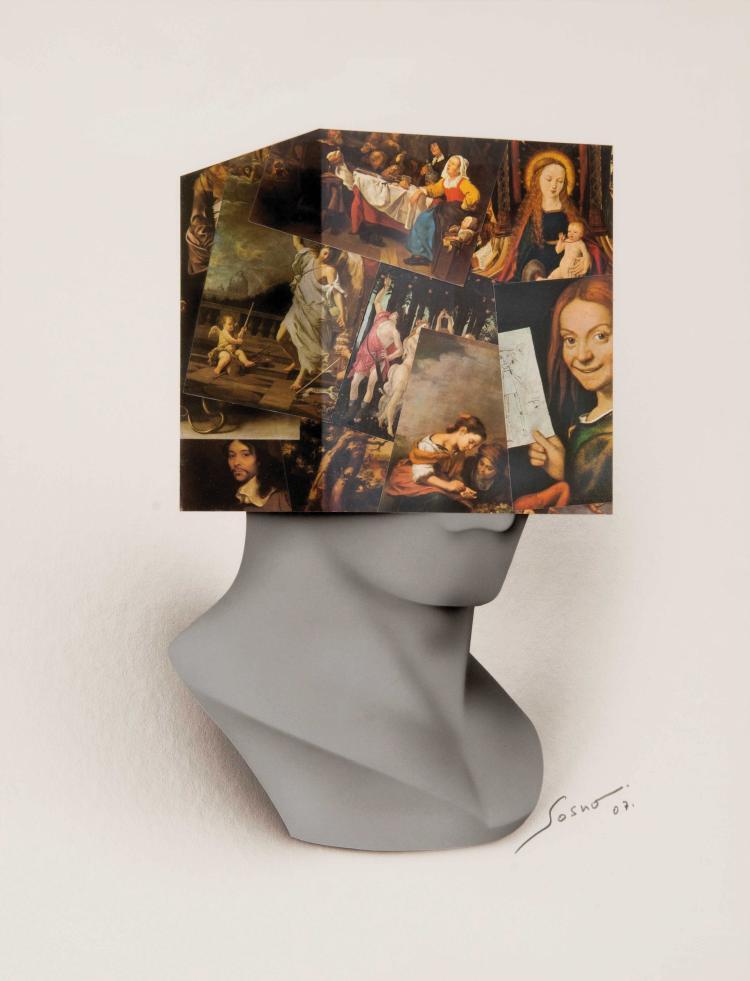 SACHA SOSNO (FRA/1937-2013) Tête carrée (Hommage aux Maîtres Anciens), 2007