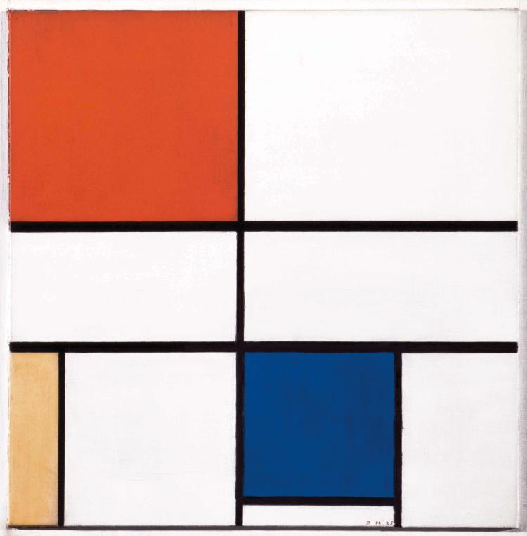 PIET MONDRIAN (NLD/1872-1944) Composition C (N° 3) with red, yellow and blue