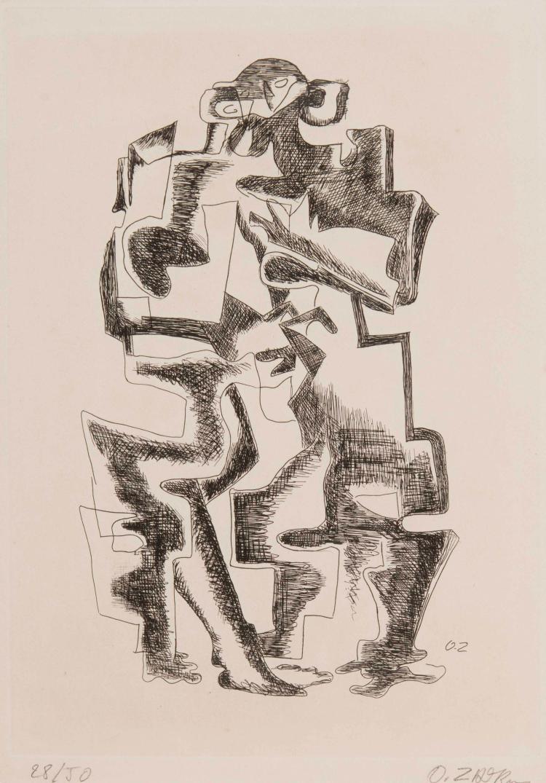 OSSIP ZADKINE (FRA/1890-1967)  L'Homme-Chat, 1963