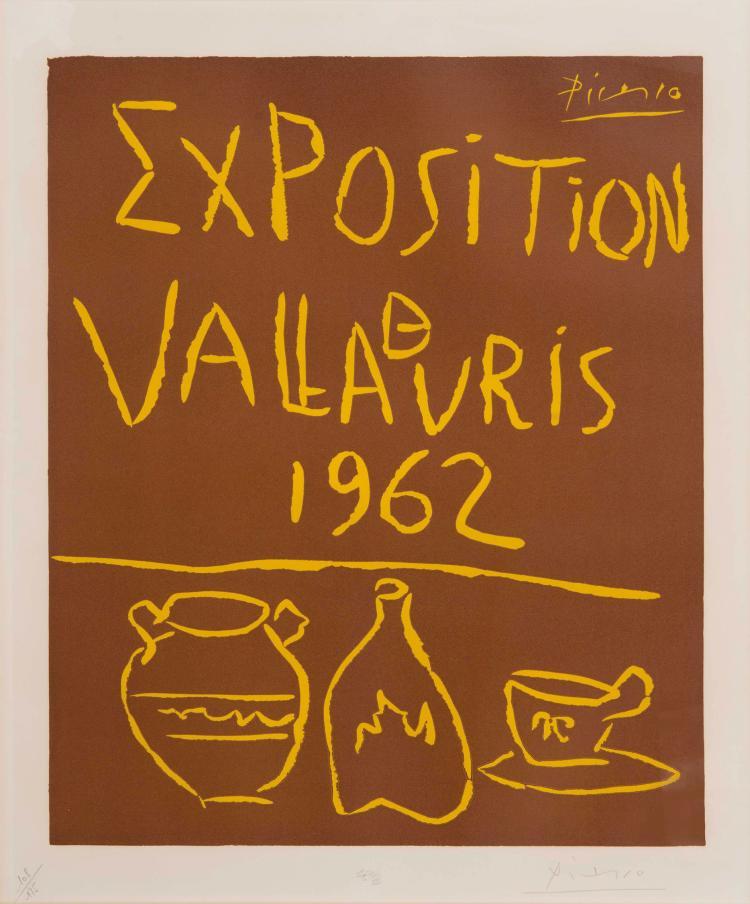 PABLO PICASSO (ESP/1881-1973) Exposition à Vallauris, 1962