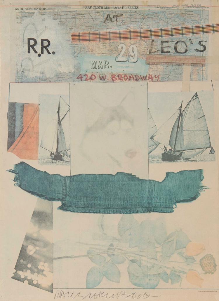 ROBERT RAUSCHENBERG (USA/1925-2008)  R.R. at Leo's, 1980