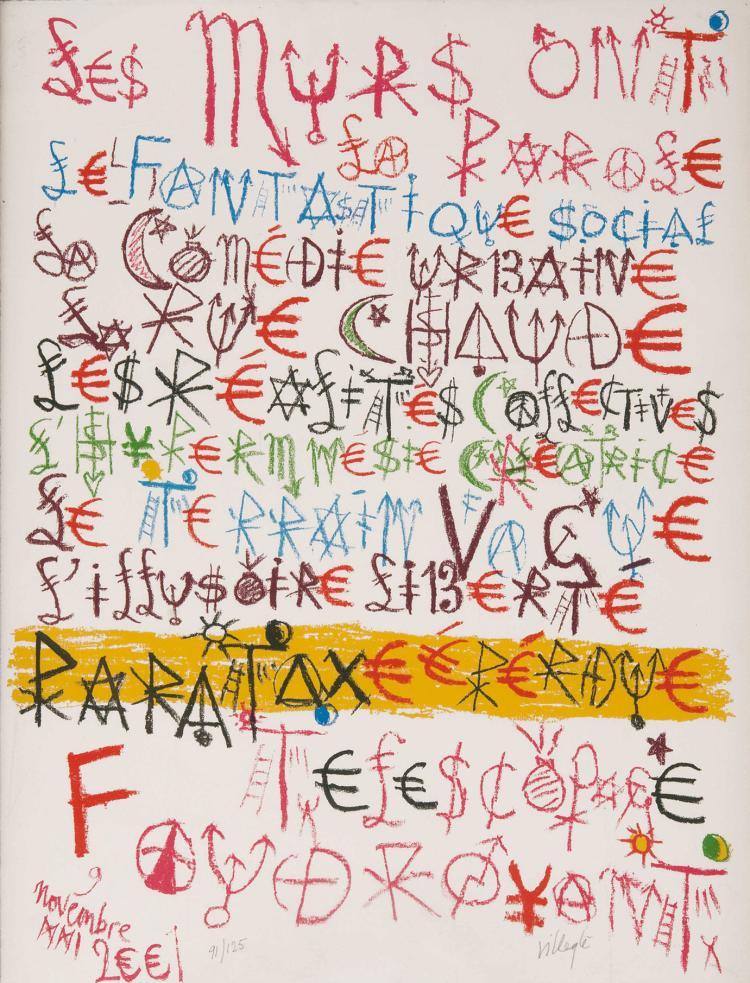 JACQUES VILLEGLé (FRA/1926)  Les murs ont la parole, 2001