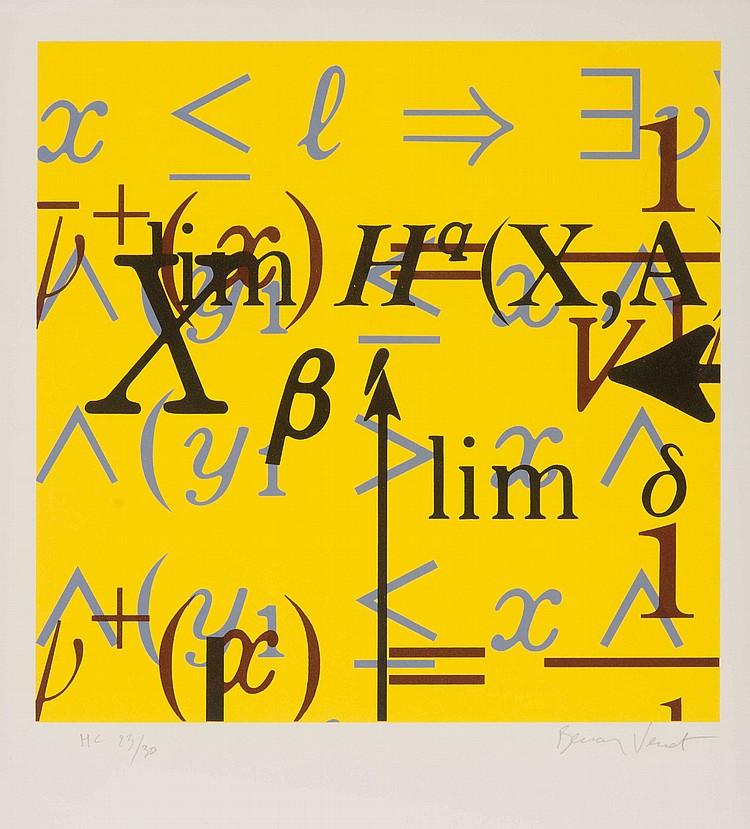 BERNARD VENET (FRA/1941) équation mathématique, 2005