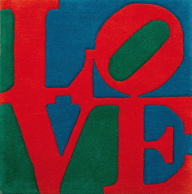 ROBERT INDIANA (USA/1928) Red / Green / Blue, ca. 1995