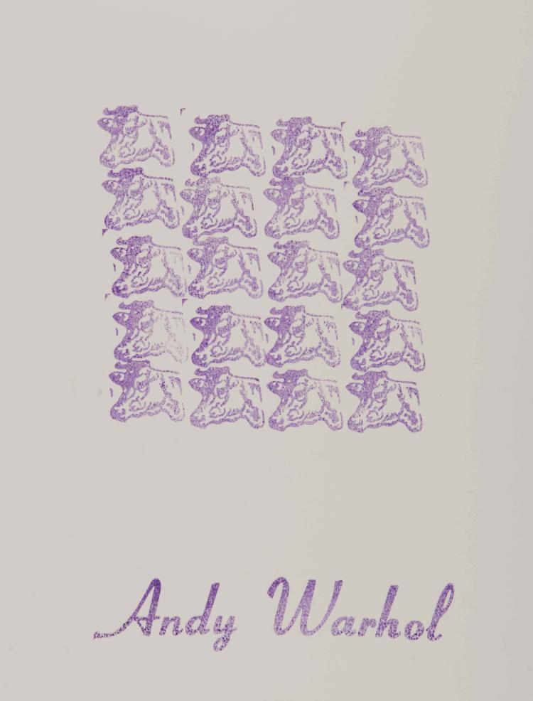 ANDY WARHOL (USA/1928-1987)  Purple Cows, 1967