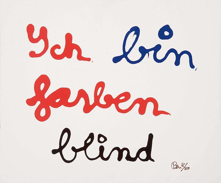BEN (FRA/1935)  Ich bin farben blind (Je suis daltonien), 1997