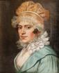 Ecole française vers 1800  Portrait de jeune femme.  Huile sur toile.  20 x 16 cm.