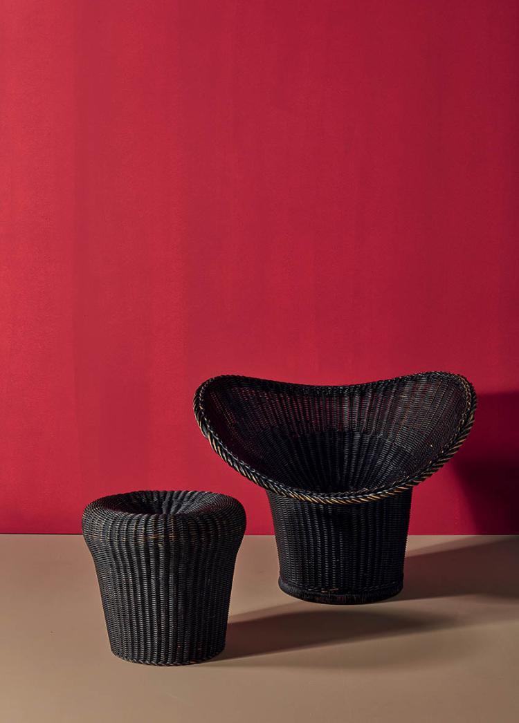 egon eiermann 1904 1970 korbsessel mod le e20. Black Bedroom Furniture Sets. Home Design Ideas