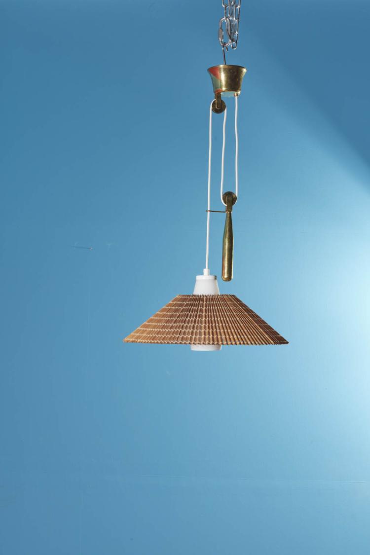 paavo tynell 1890 1973 suspension bois verre et laiton. Black Bedroom Furniture Sets. Home Design Ideas