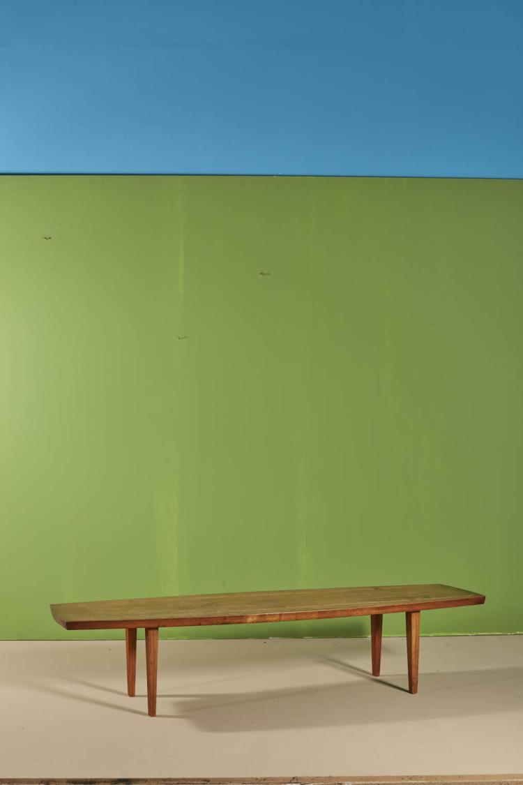 travail californien table basse noyer. Black Bedroom Furniture Sets. Home Design Ideas
