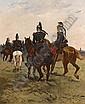 Georges HYON (1855) - Colonne de dragon en marche., Georges Louis Hyon, Click for value