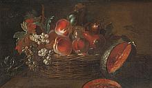 Jacques-Charles OUDRY (1720-1778)   Nature morte aux fruits.   Toile.   46 x 76 cm.   Nous remercions Monsieur Pierre Jacky d'avoir confirmé l'authenticité de cette oeuvre.