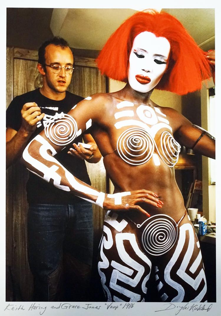 DOUGLAS KIRKLAND Keith Haring and Grace Jones 1986.