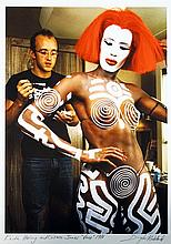 DOUGLAS KIRKLAND  Keith Haring and Grace Jones 1986.