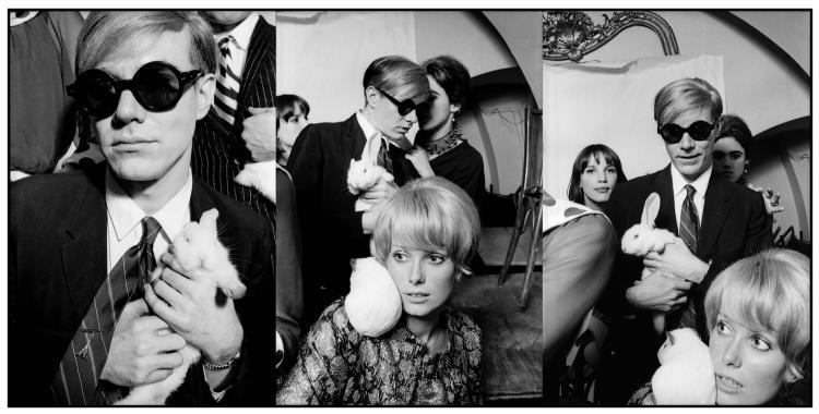 JEAN JACQUES BUGAT  Andy Warhol et Catherine Deneuve