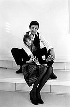 ALAIN NOGUES  Serge Gainsbourg et Jane Birkin présentent la mode Cacharel 1969