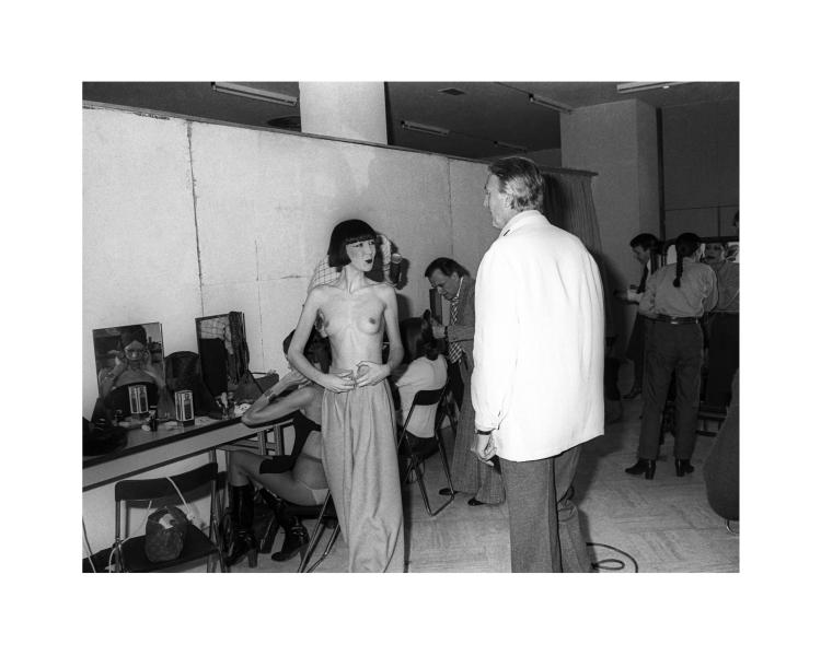 GUY MARINEAU  Hubert de Givenchy backstage 1977