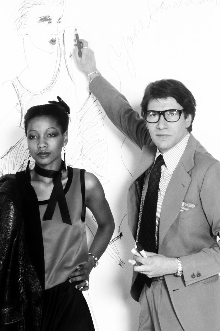 Guy Marineau Yves Saint Laurent et Mounia Paris 1978