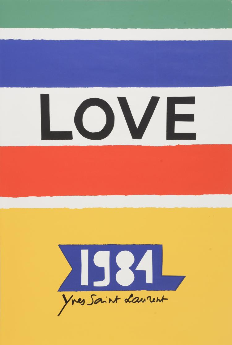 YVES SAINT LAURENT (1936-2008) Love 1984.