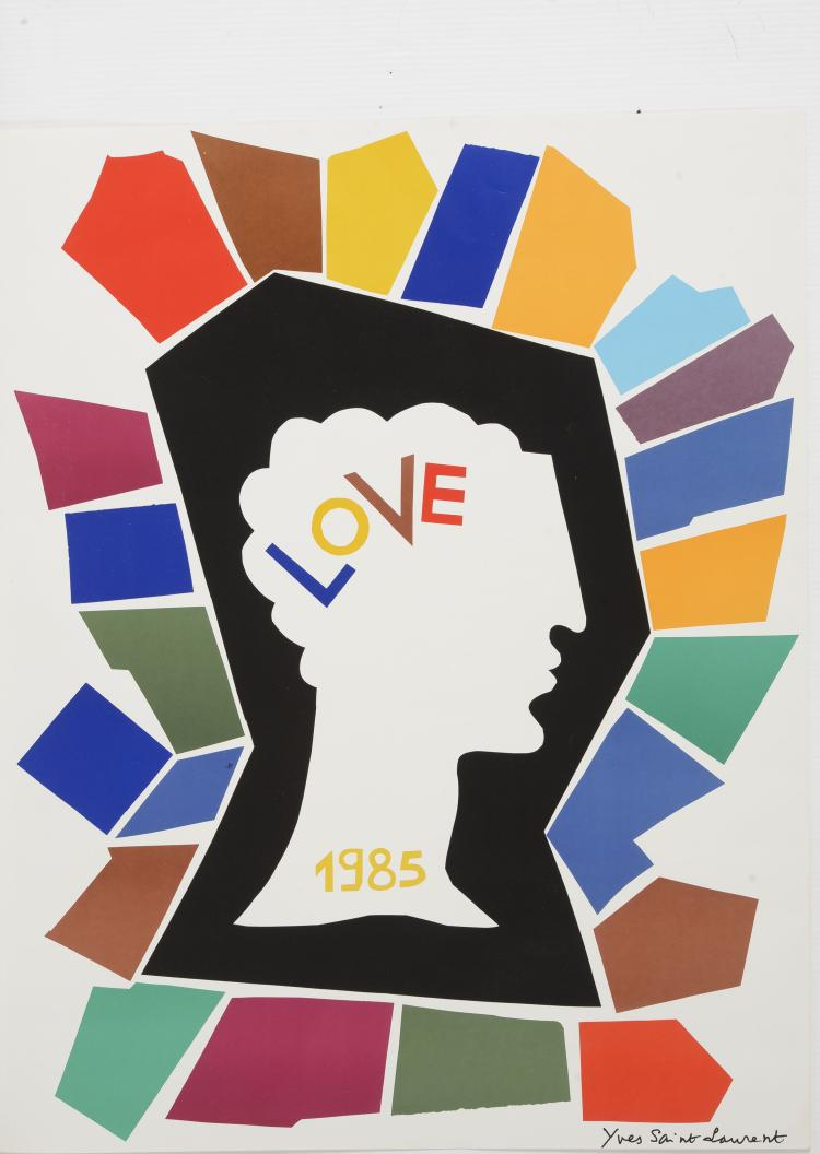 YVES SAINT LAURENT (1936-2008) Love 1985.