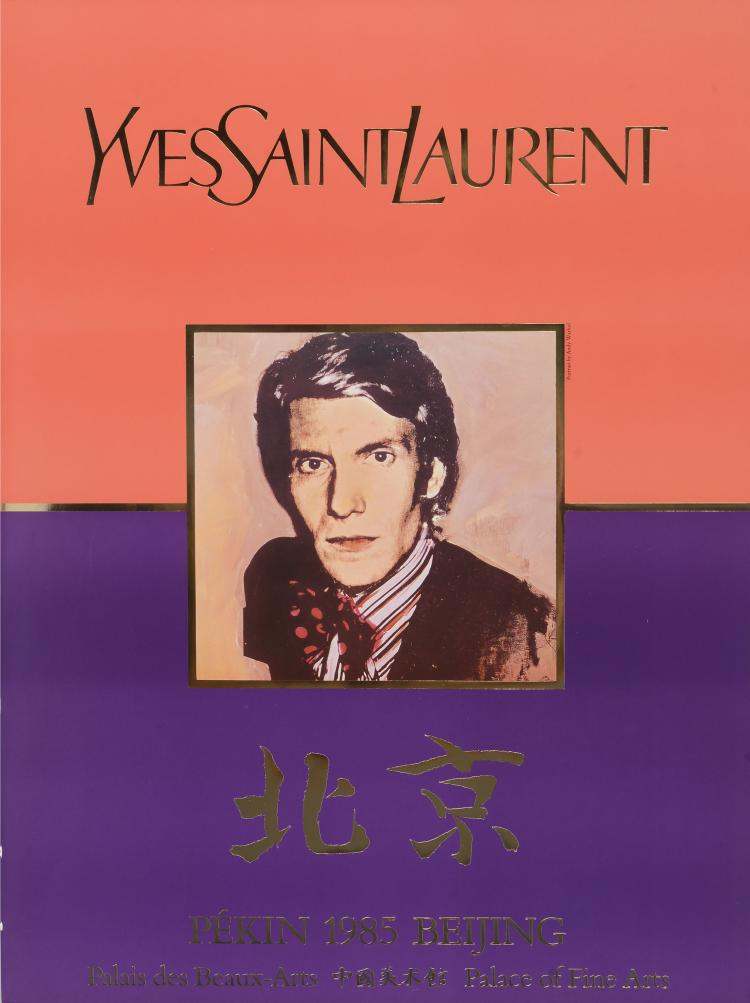 YVES SAINT LAURENT (1936-2008)  Pékin. 1985.