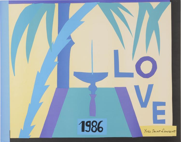 YVES SAINT LAURENT (1936-2008)  Love 1986.