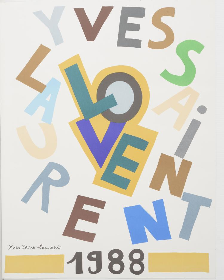 YVES SAINT LAURENT (1936-2008)  Love 1988.