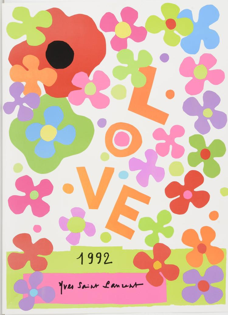 YVES SAINT LAURENT (1936-2008) Love 1992.