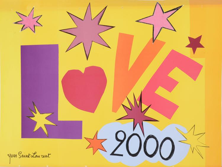 YVES SAINT LAURENT (1936-2008)  Love 2000.