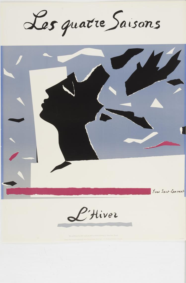 YVES SAINT LAURENT (1936-2008)  Les quatres saisons - Le printemps.