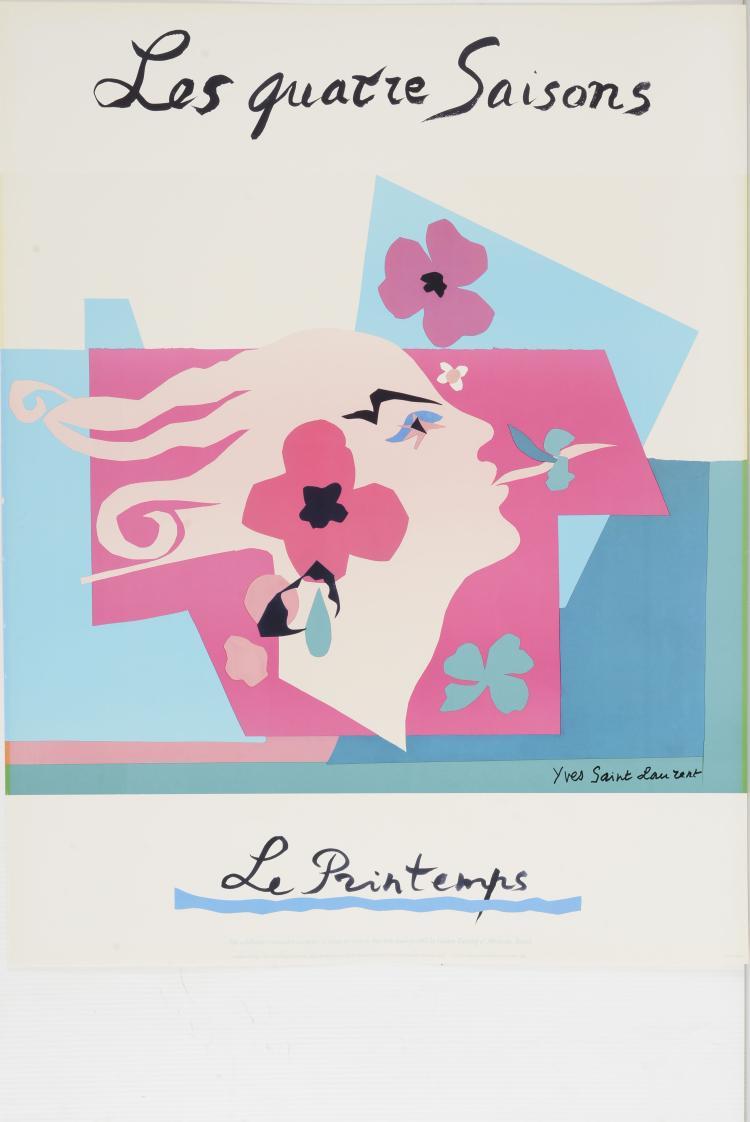 YVES SAINT LAURENT (1936-2008)  Les quatres saisons - L'hiver.