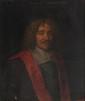 Philippe de CHAMPAIGNE  (1602-1674) d'après  Portrait de Michel Le Tellier.  Huile sur toile.  Titrée et datée 1677 en haut au centre.  70 x 60 cm.
