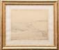 Charles DESAVARY (1837-1885)  Le château d'If à Marseille.  Dessin à la mine de plomb.  Signé en bas à gauche.  Situé en bas à droite.  38 x 31 cm.