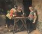 FILAROLI  Scène de taverne.  Huile sur toile. Signée et datée 1903  en bas à droite. 55 x 65 cm.