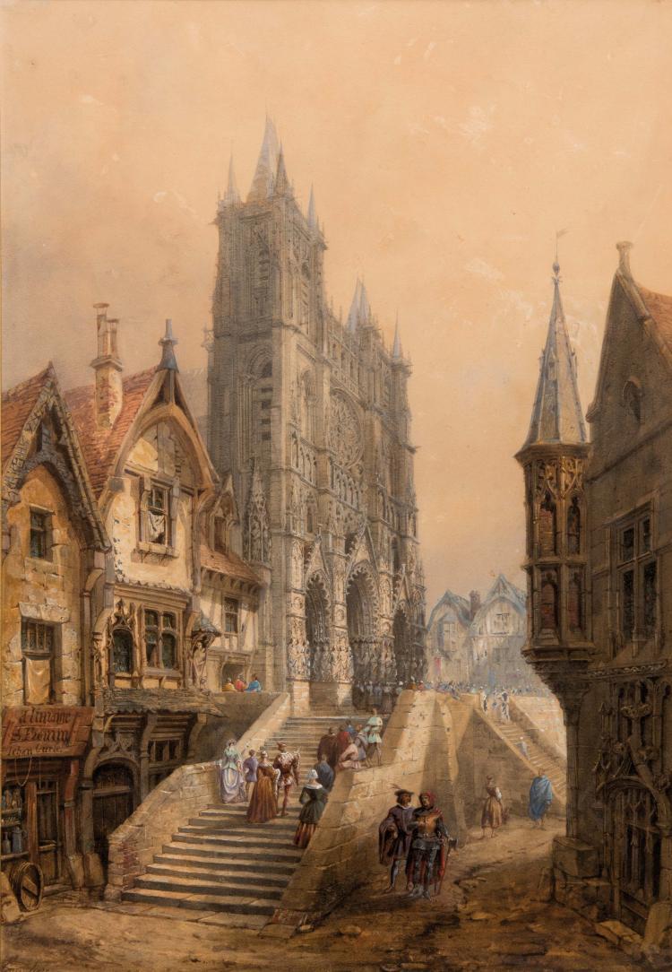 Marius ENGALIÈRE (1824-1857)  Cathédrale d'Amiens.
