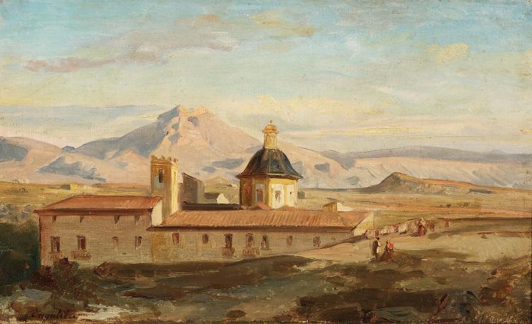 Marius ENGALIÈRE (1824-1857) Couvent en Espagne.